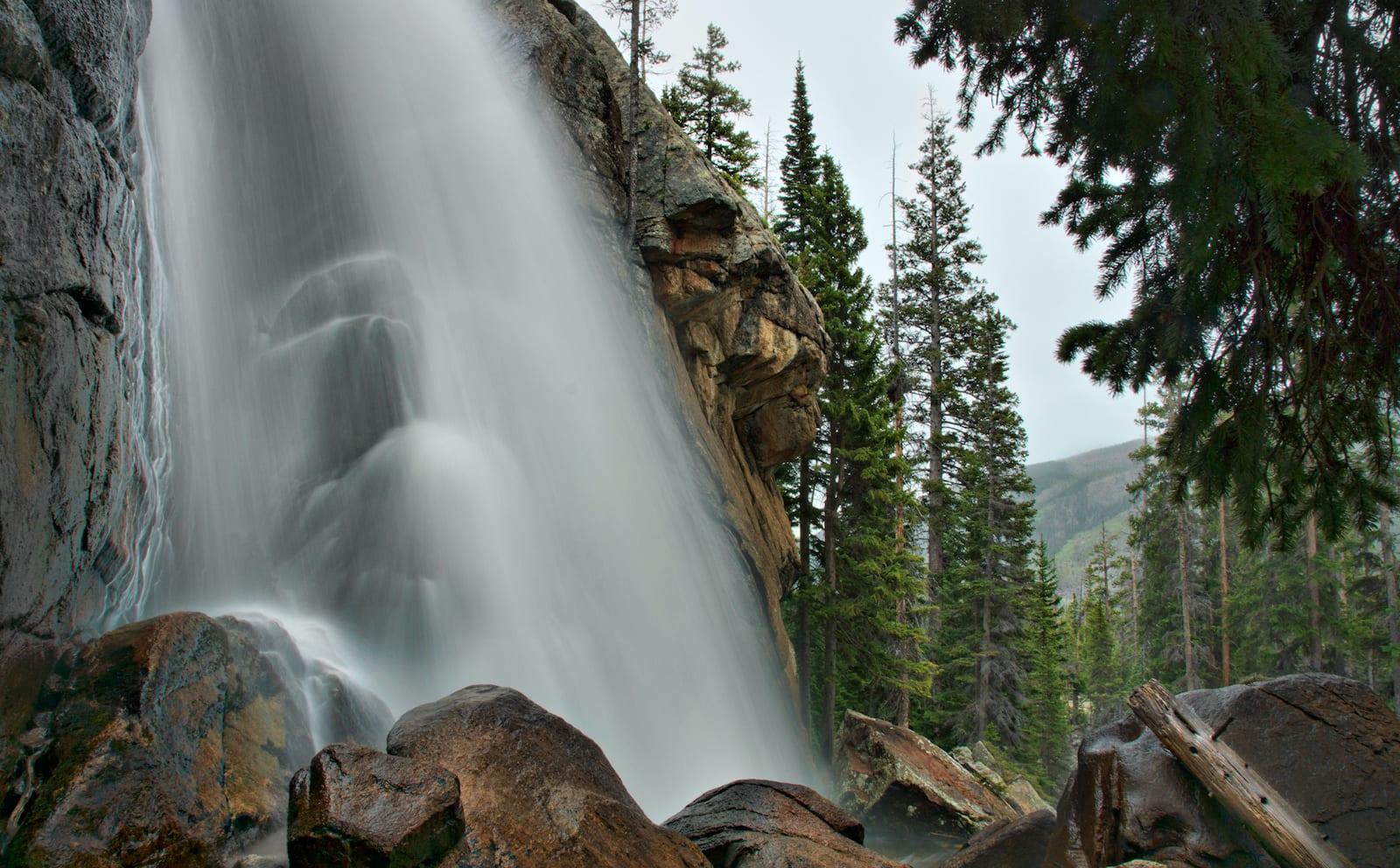 Ouzel Falls RMNP Colorado Wet Spring Day