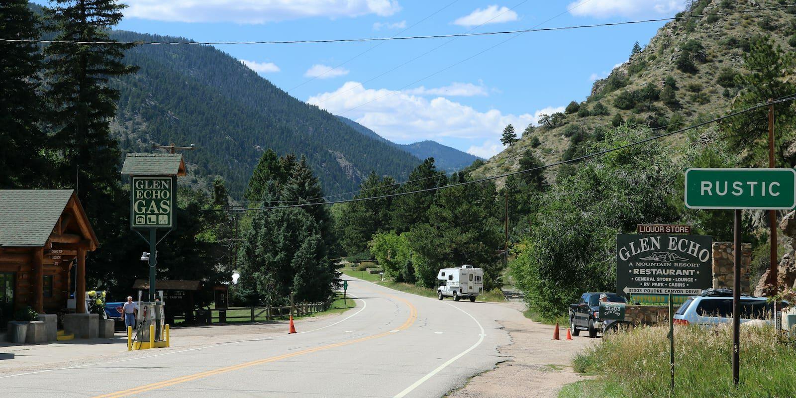 Rustic Colorado Poudre Canyon Road Westward