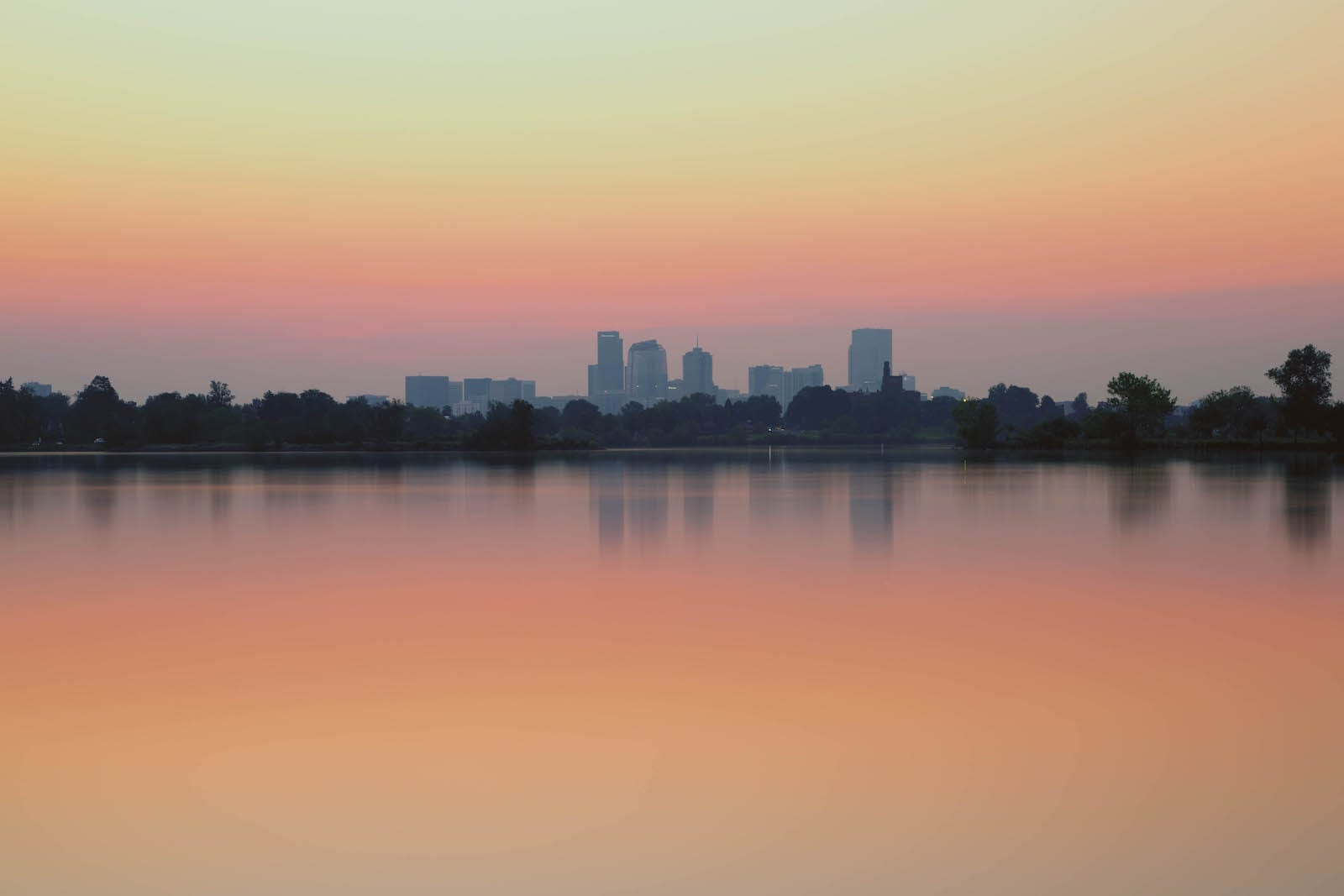 Sloan's Lake Sunrise Denver CO