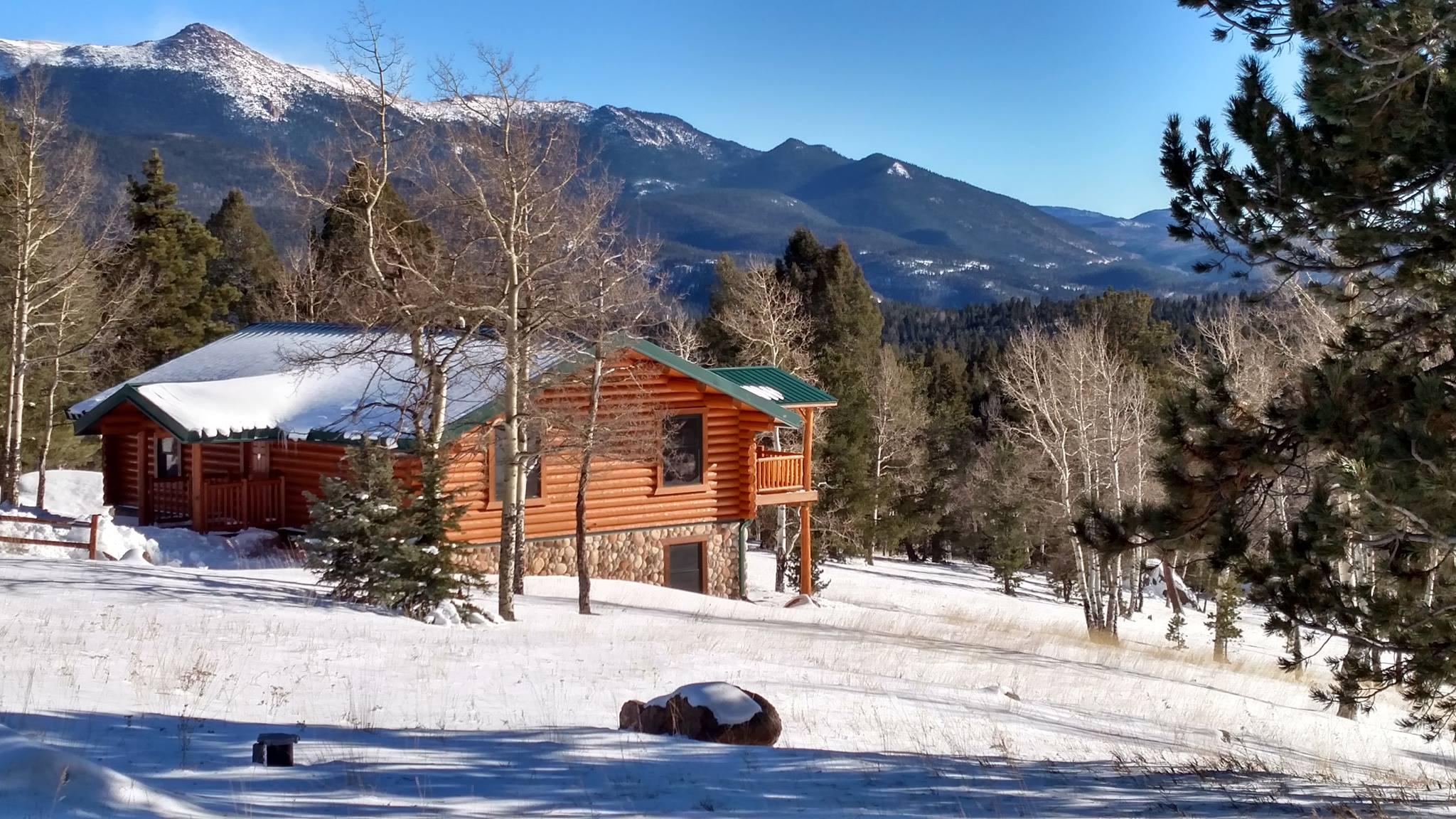 image of spruce cabin at mueller state park