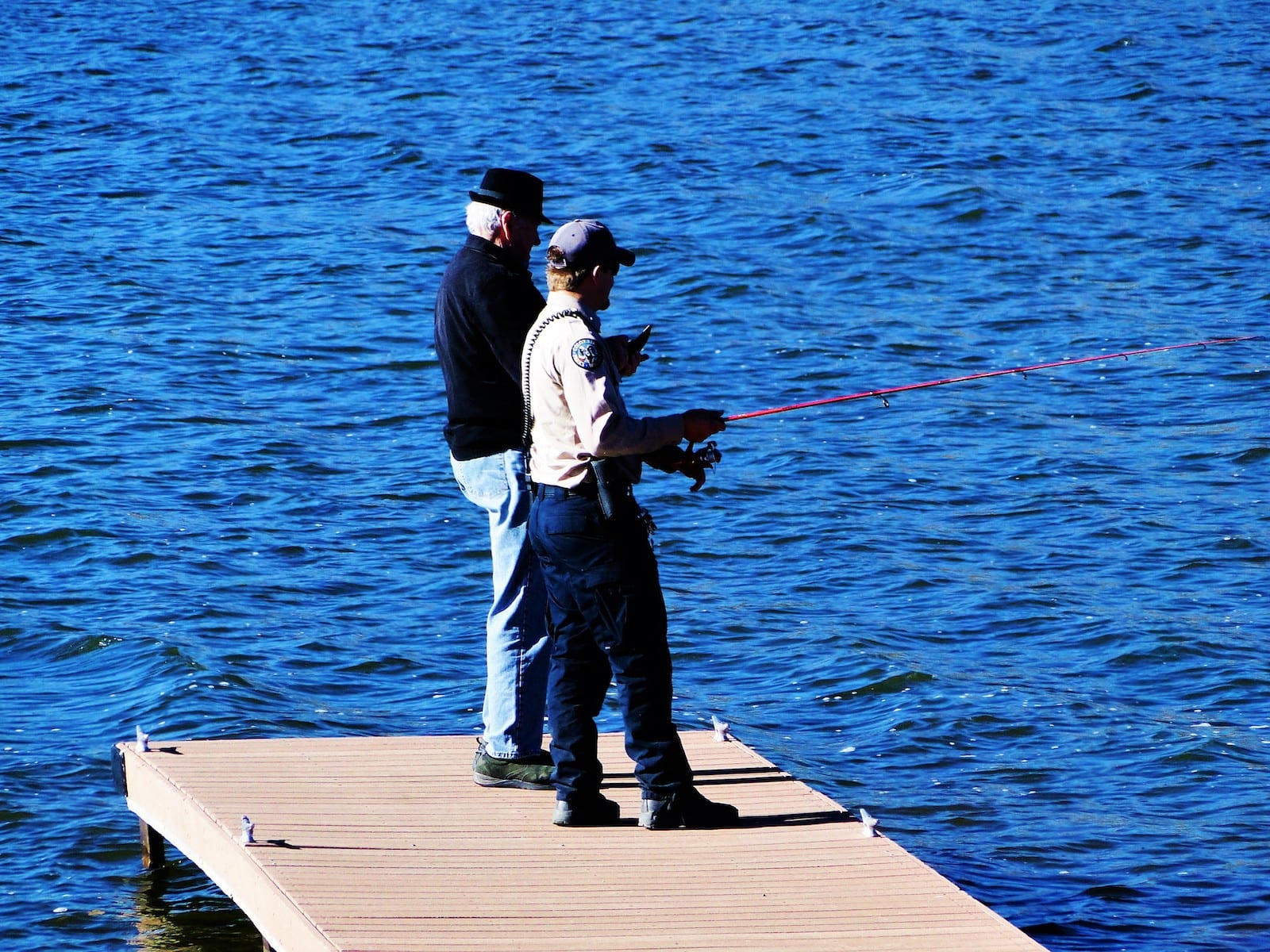 Steamboat Lake State Park Fishing from Dock