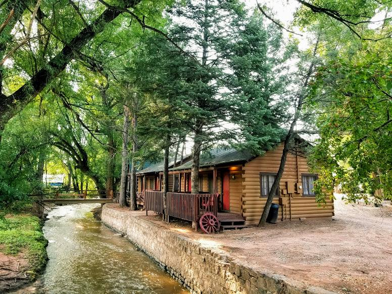 image of timber lodge cabins