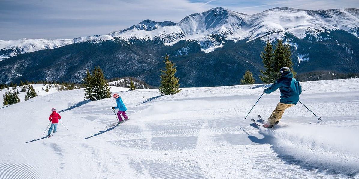 image of Skiers at Winter Park Ski Resort