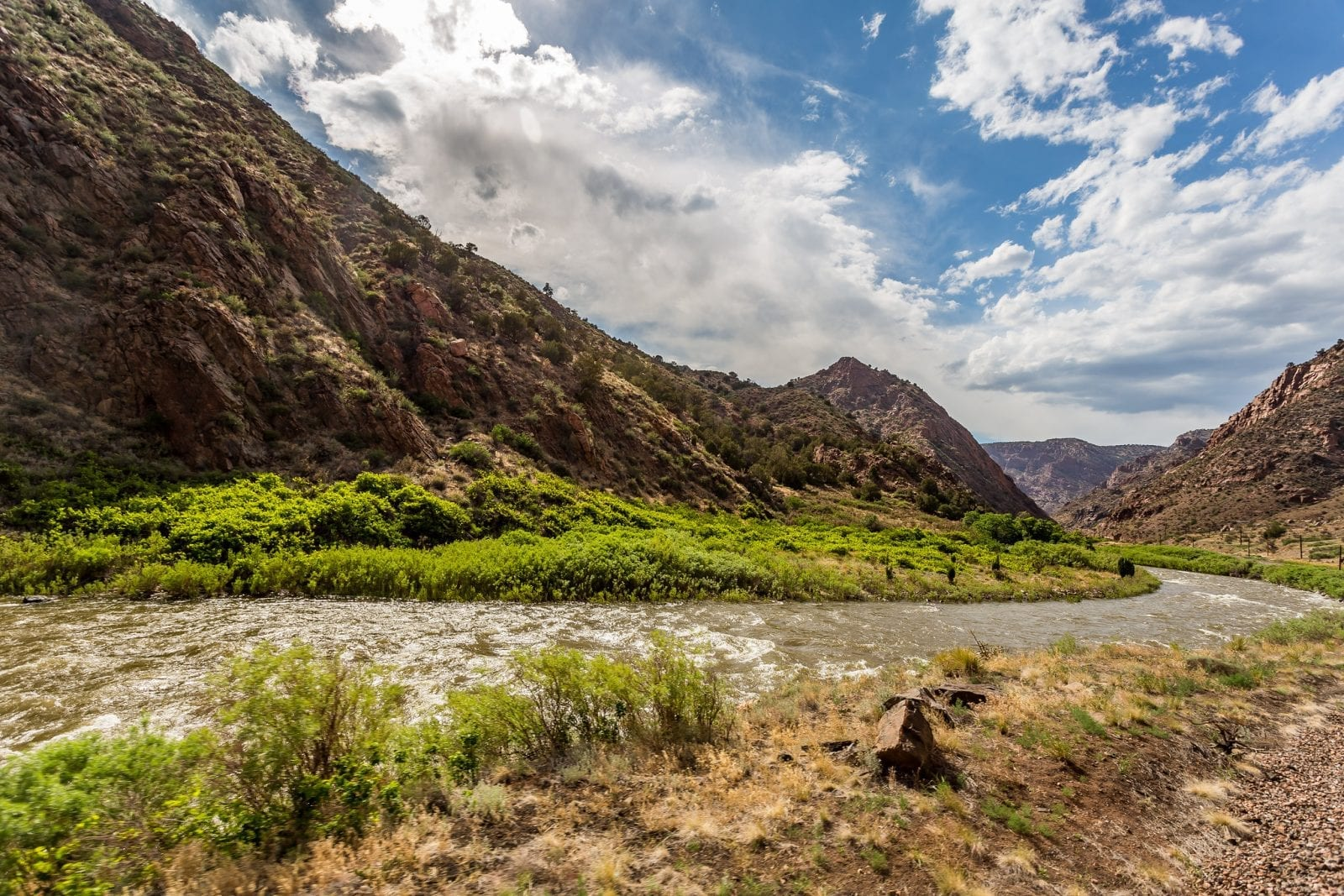 Image of the Arkansas River flowing through the Royal Gorge in Colorado