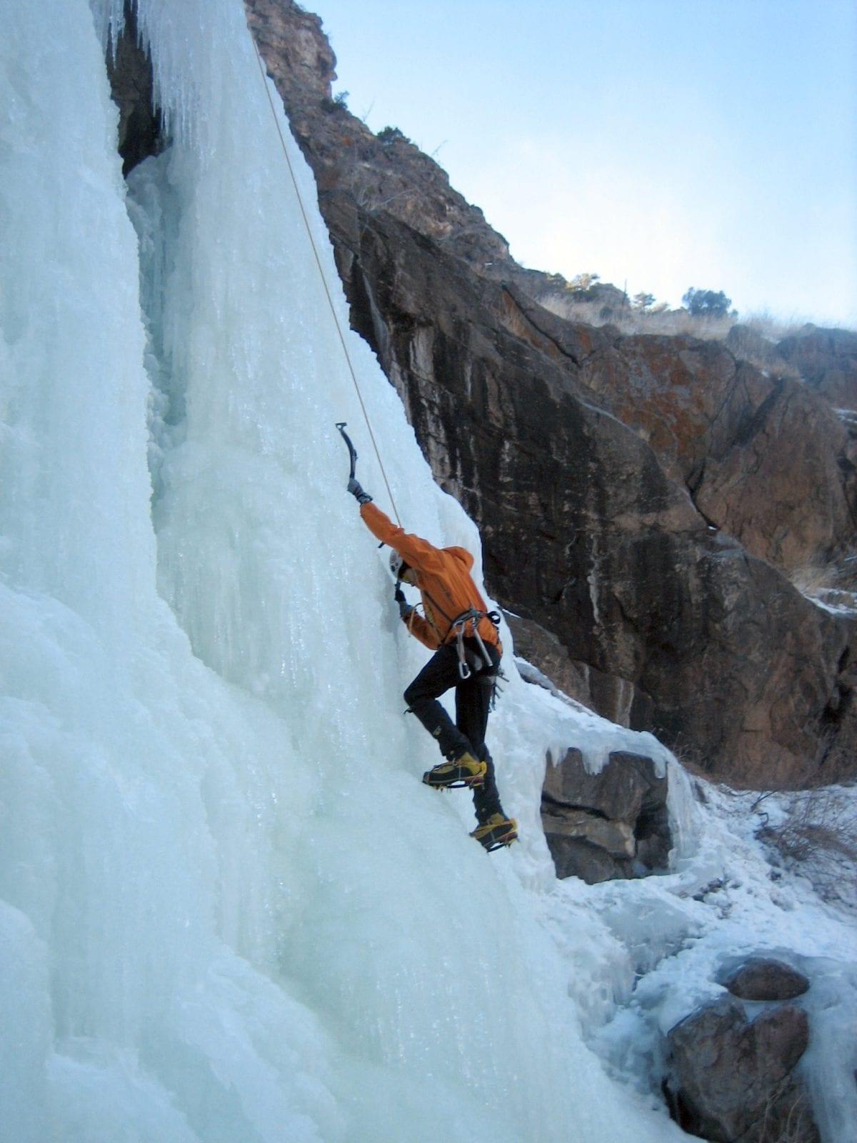 Ice Climbing in Clear Creek Canyon