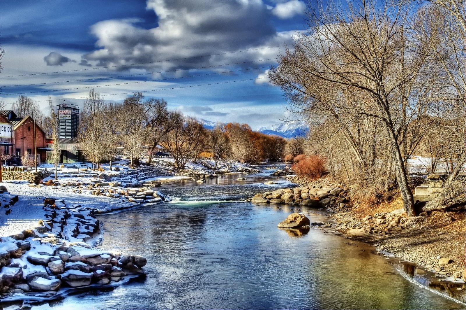 Image of the Arkansas River passing through Salida, Colorado