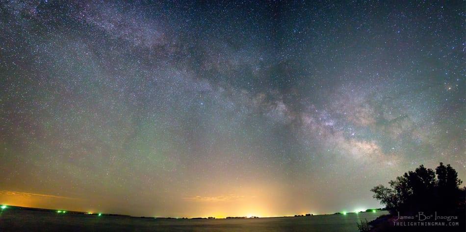 Milky Way Night Sky over Jackson Lake Colorado