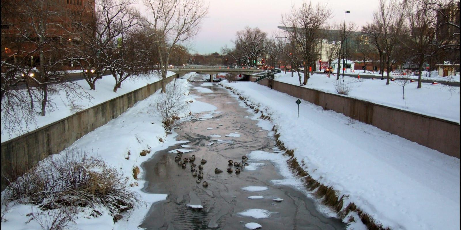 Image of Cherry Creek flowing through Denver in Colorado