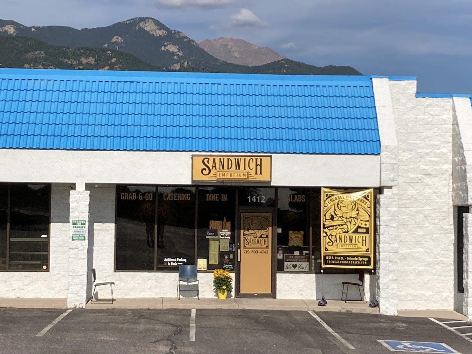 Colonel Mustard's Sandwich Emporium Exterior Colorado Springs