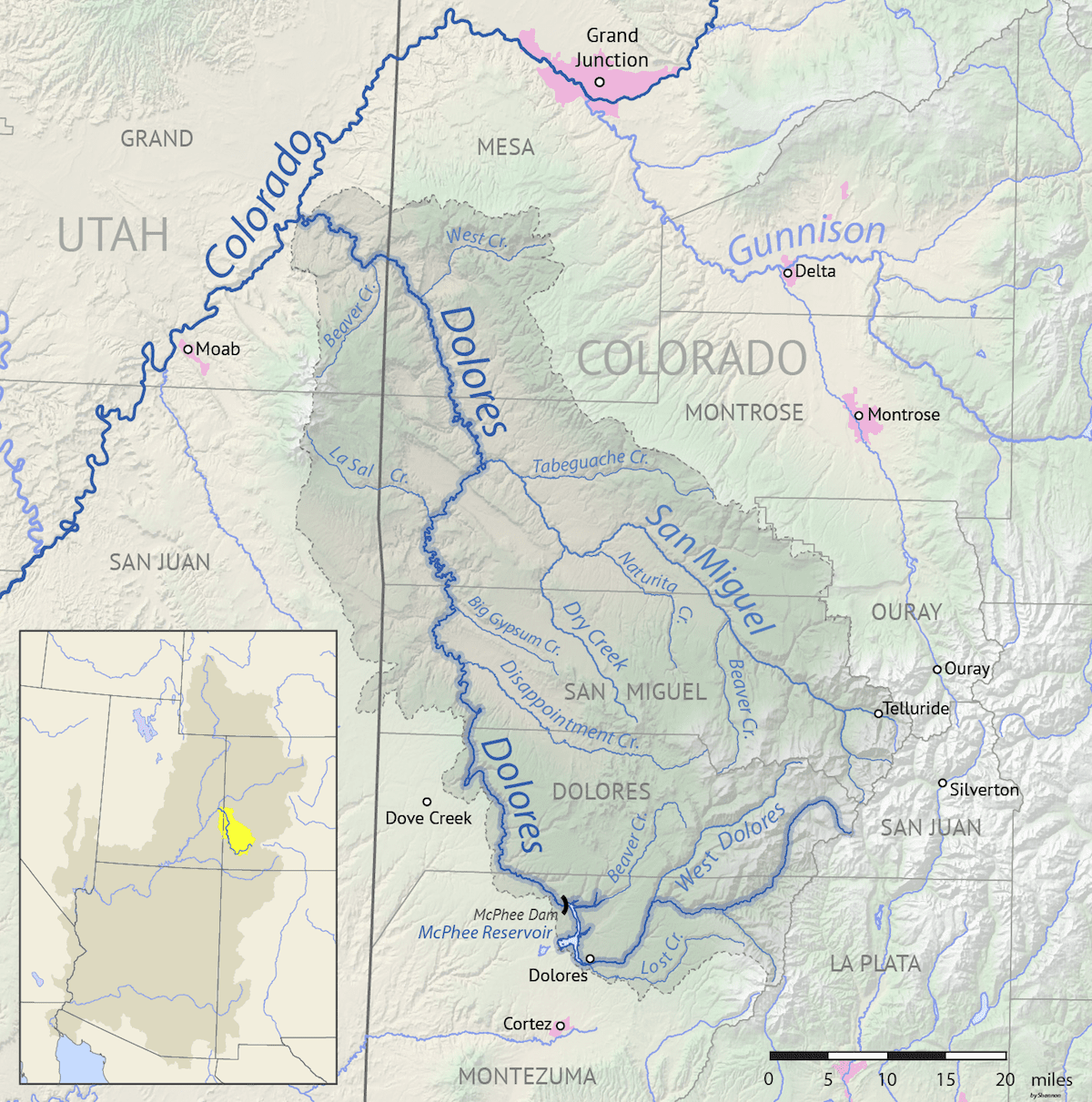Image of the Dolores River Basin Map