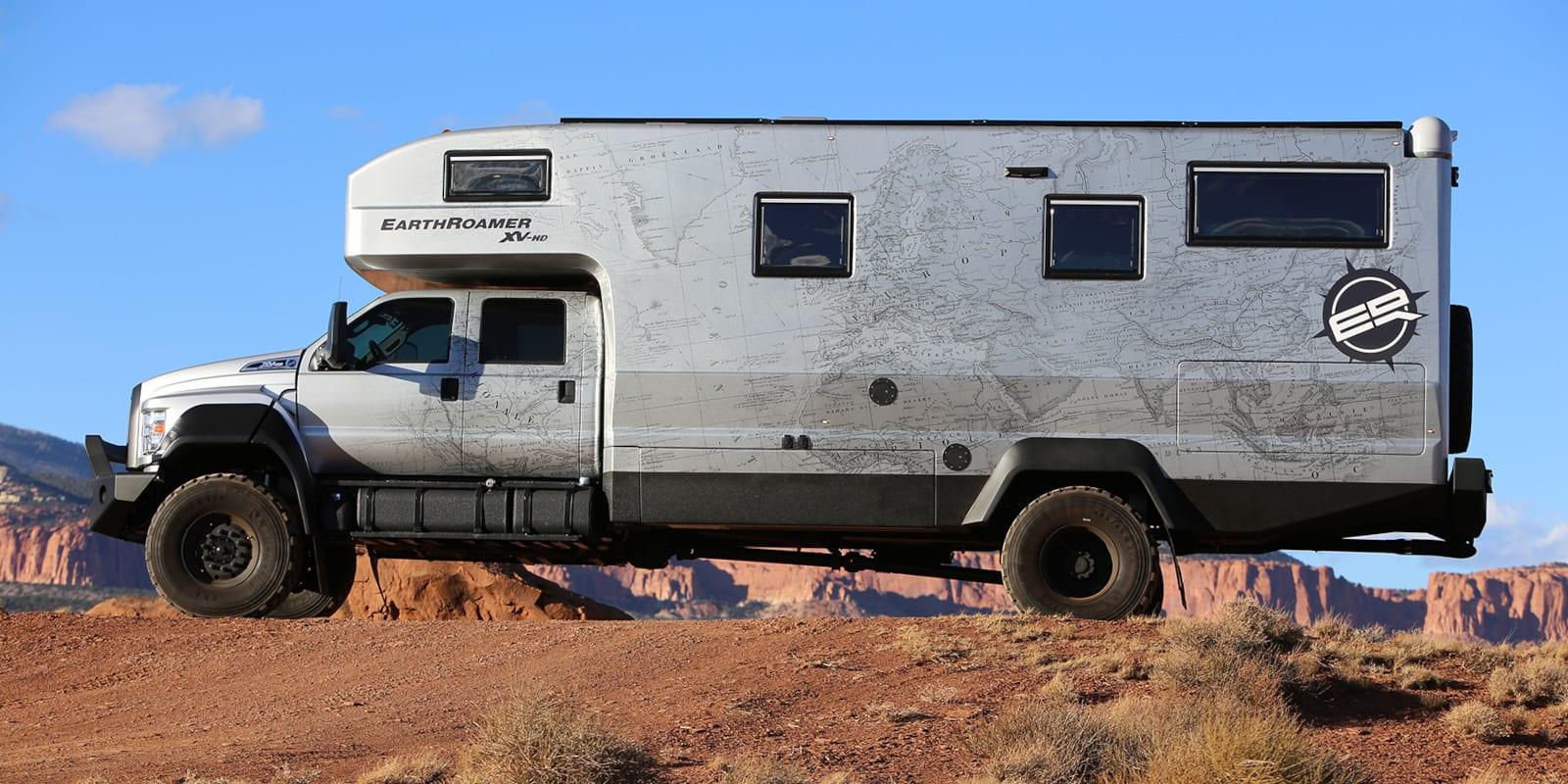 Image of the EarthRoamer XV-HD in the desert