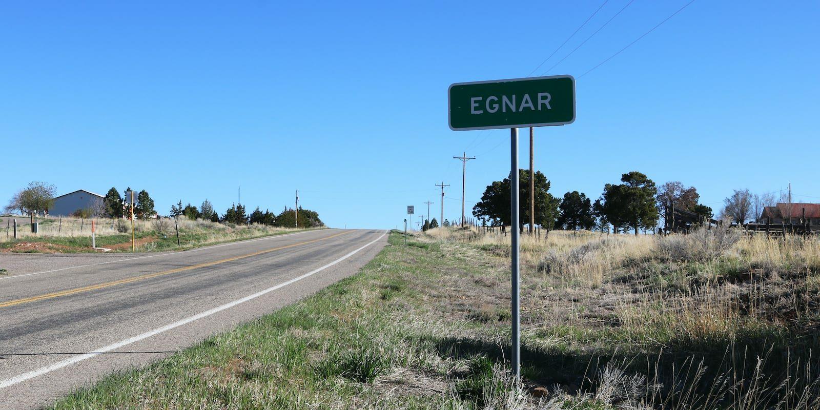 Egnar Colorado Sign