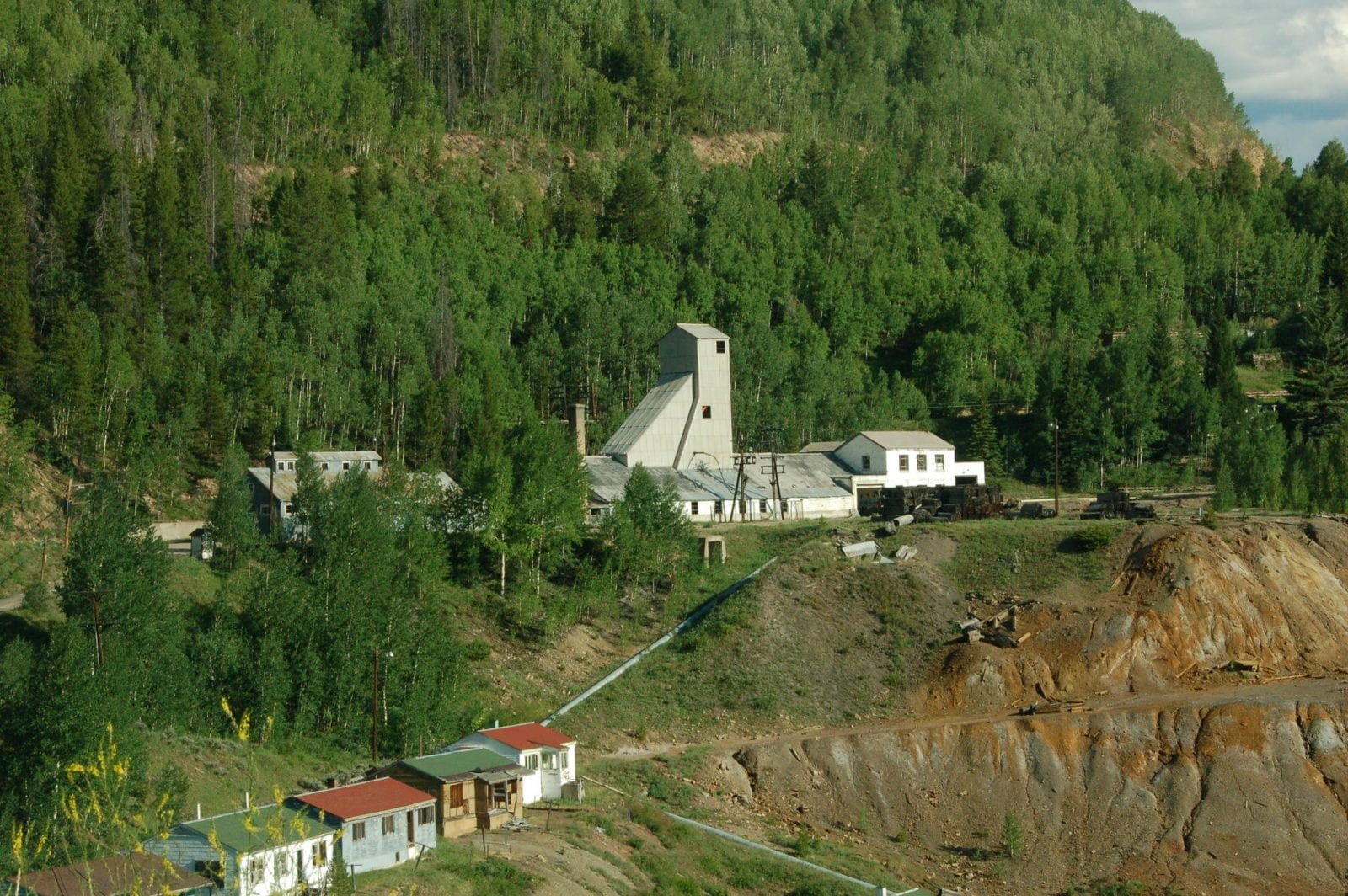 Image of the abandoned eagle mine in the ghost town of gilman, colorado