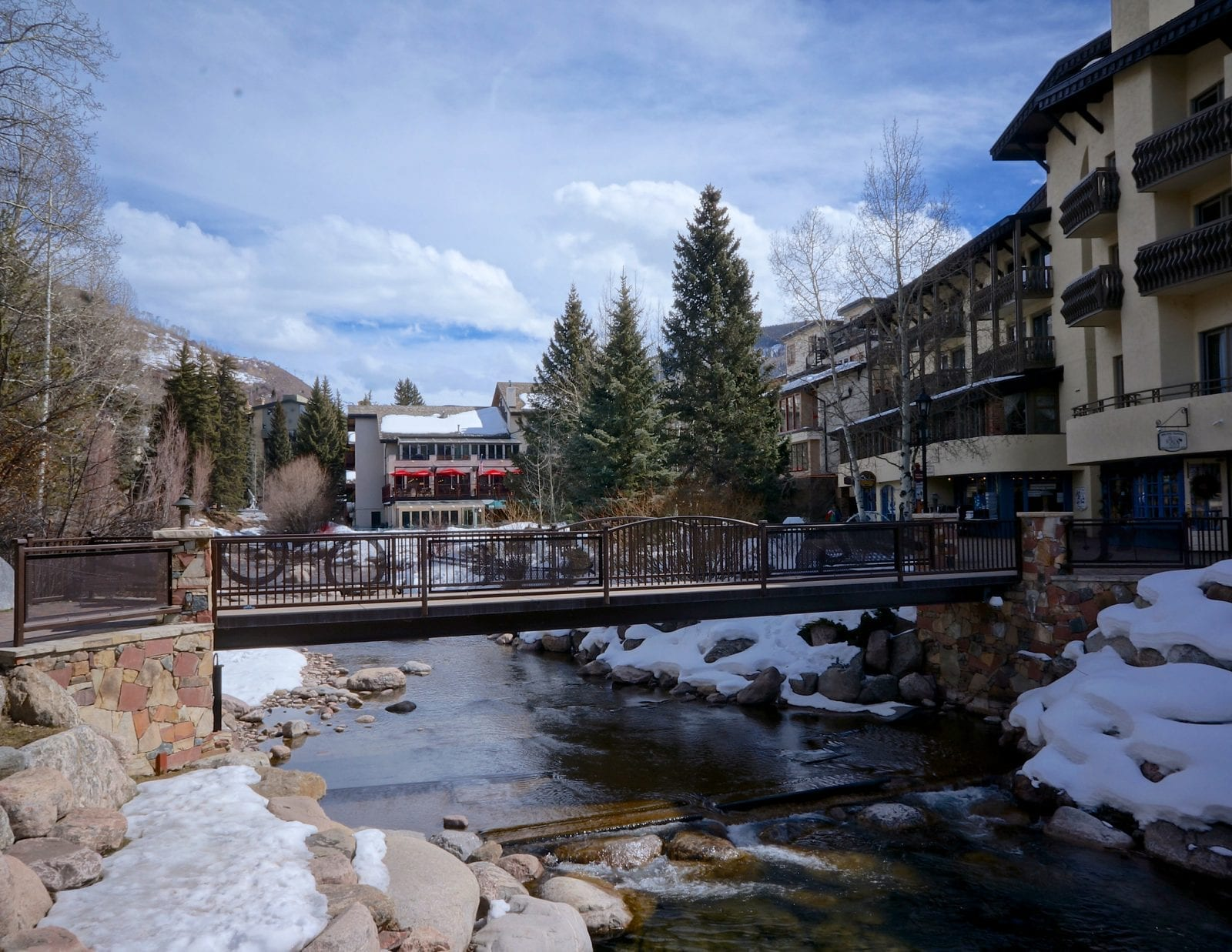 Image of Gore Creek passing through Vail Village