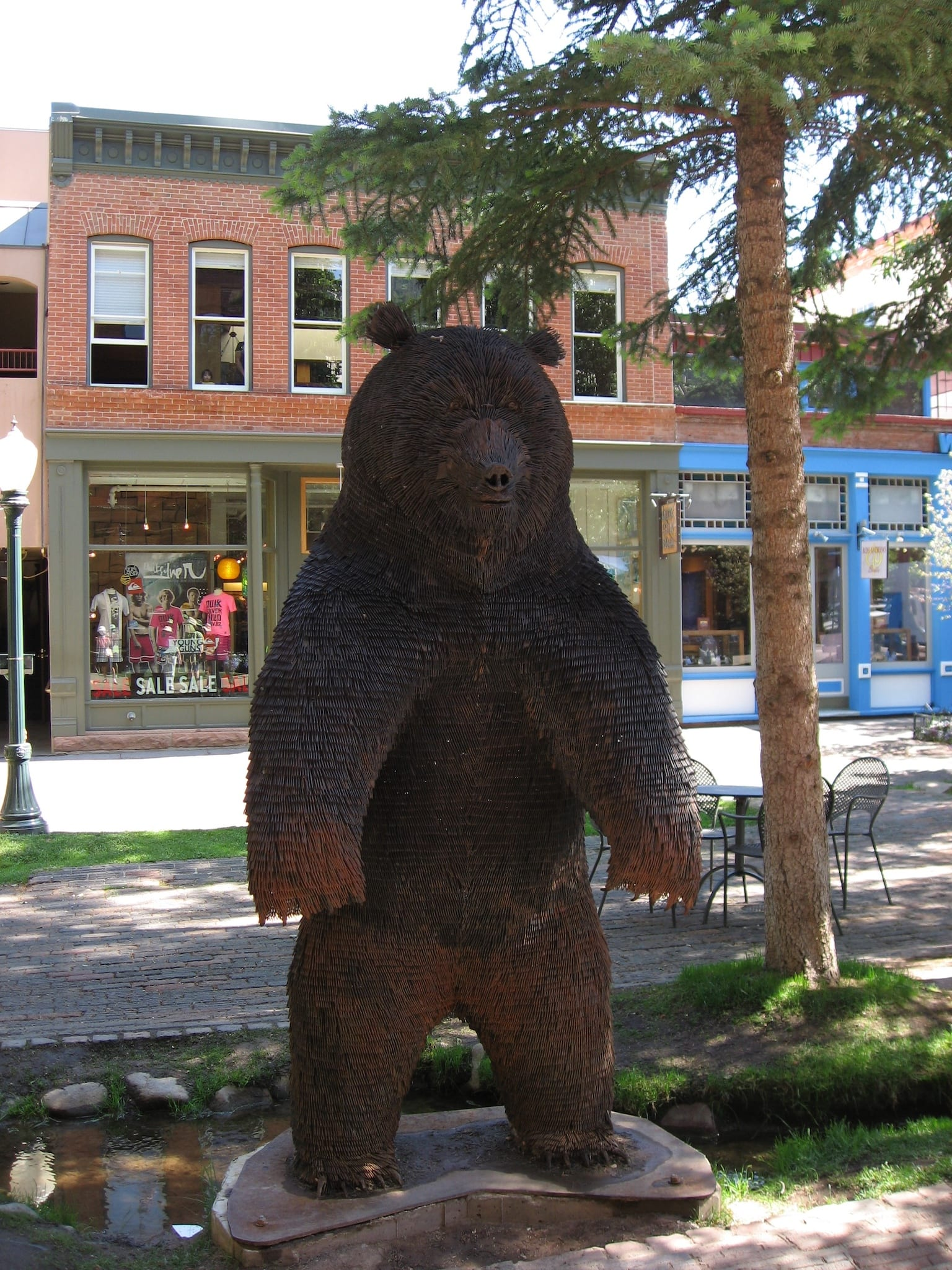 Grizzly Bear Sculpture Aspen CO