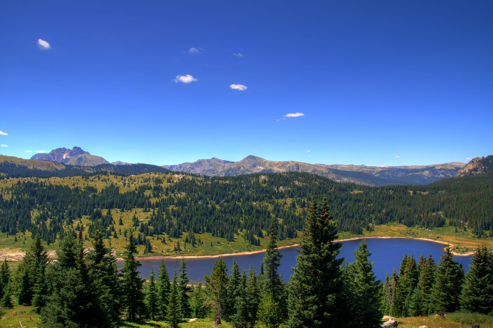 Overlooking Ivanhoe Lake Colorado