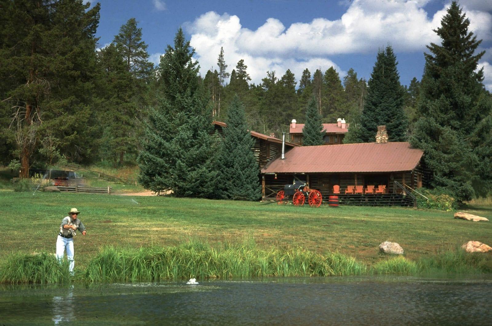Image of a man fishing at Latigo Ranch in Colorado