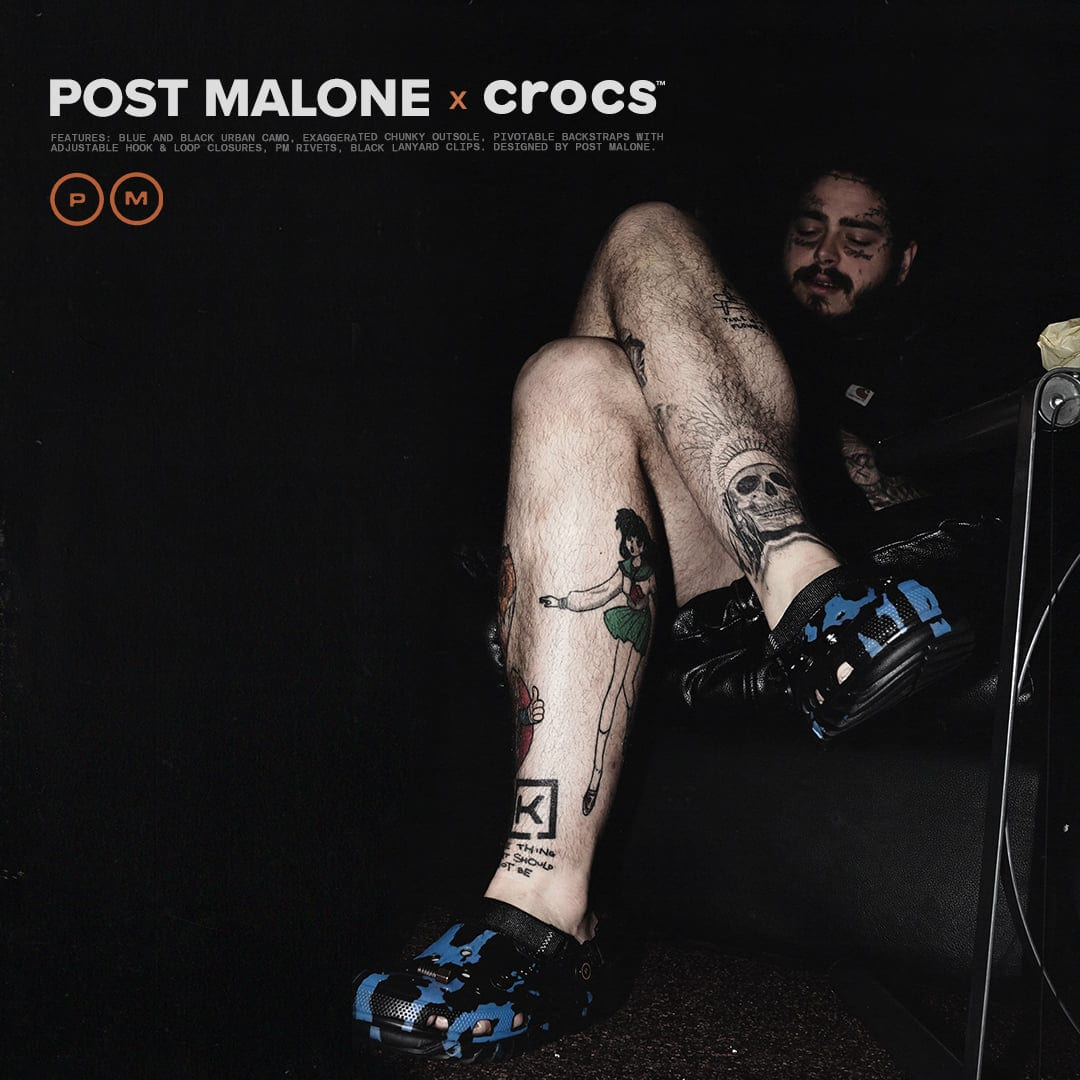 Image of the post malone x crocs collaboration