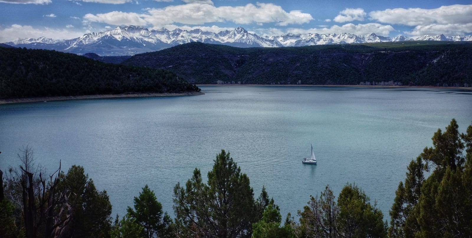 Ridgway Reservoir Sailboat Colorado