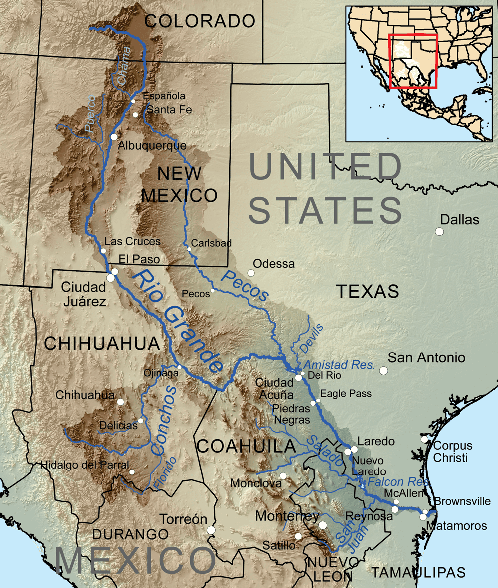 Image of a map of the Rio Grande River
