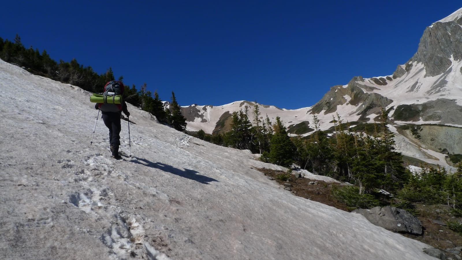 Snowmass Lake Winter Snowshoe Trail