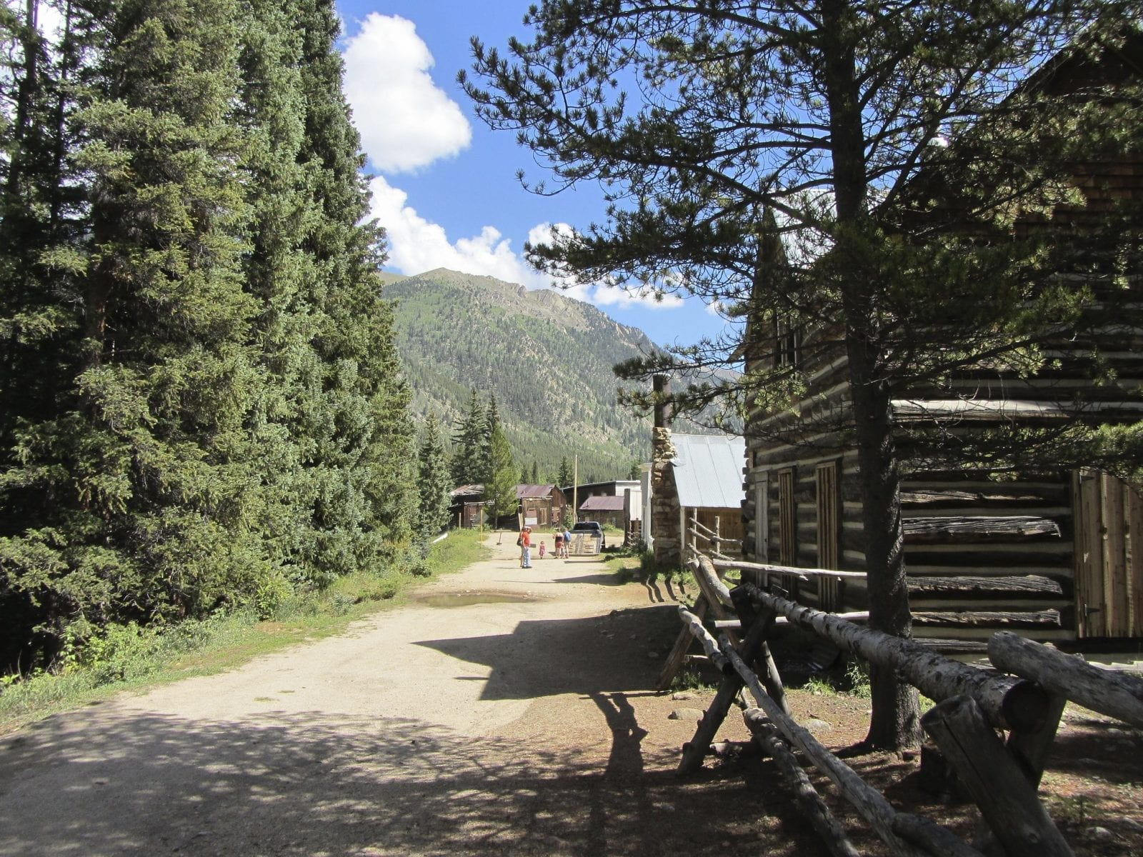 Image of an old log cabin in the ghost town of st elmo in colorado
