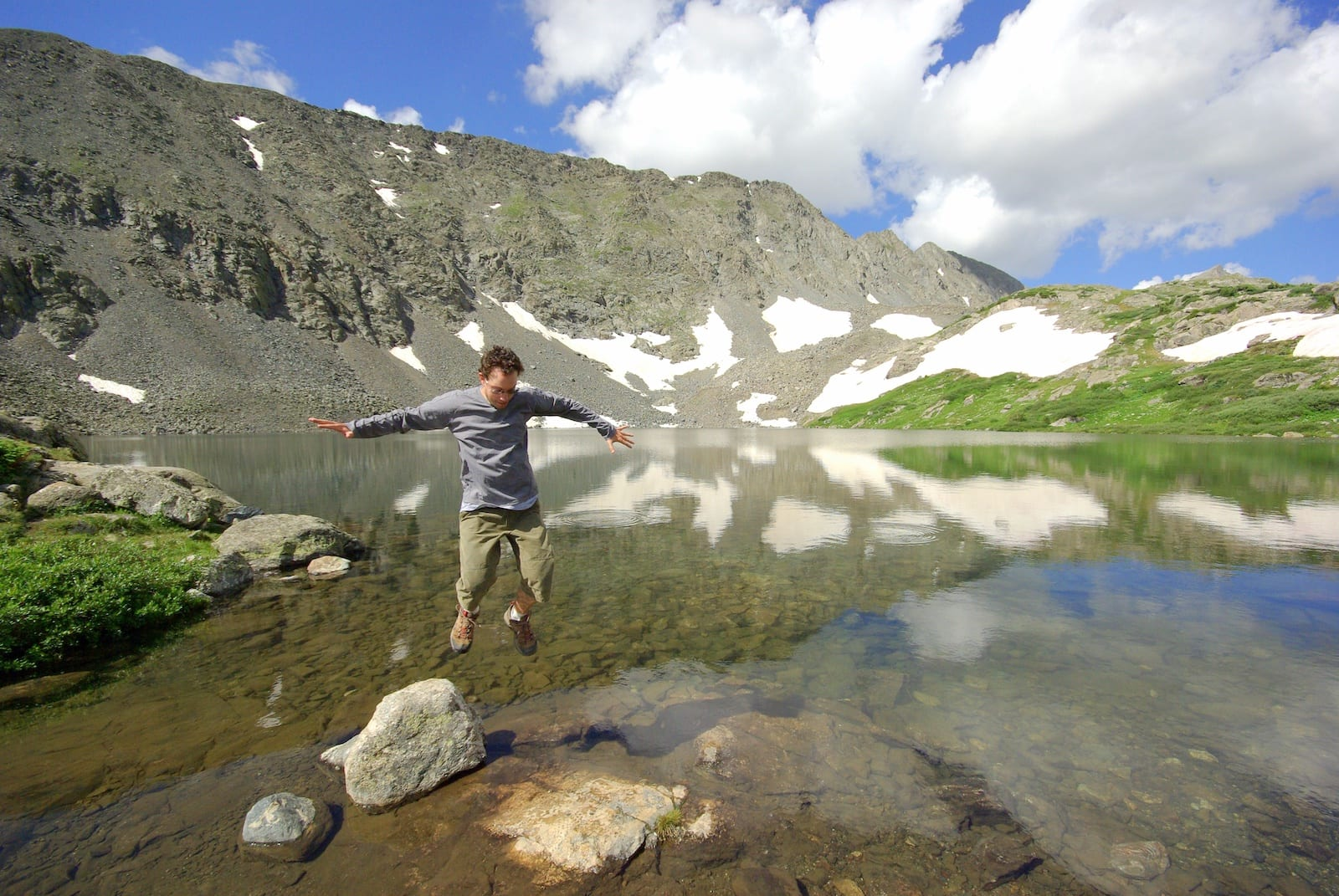 Upper Mohawk Lake Man Jumping