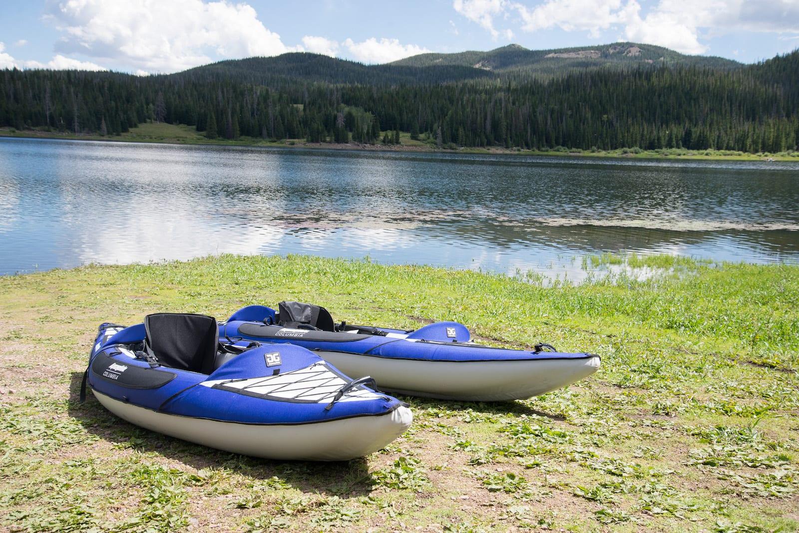 Kayking on Yamcolo Reservoir Colorado