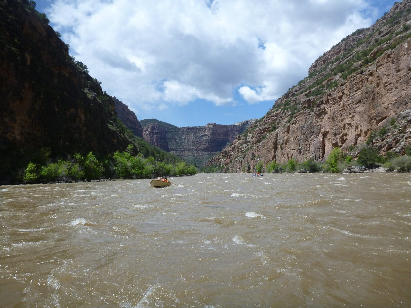 Image of a person rafting on the Yampa River in Colorado