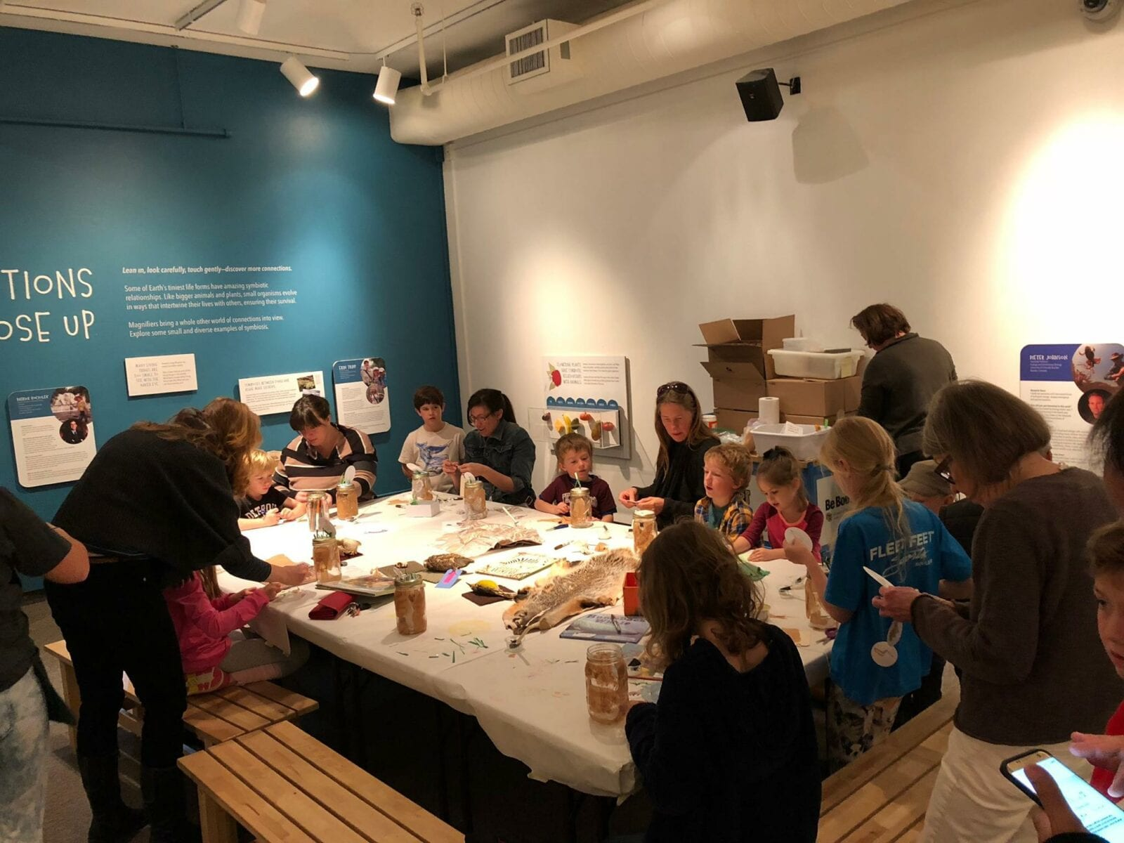 Image of kids at the CU Museum of Natural History