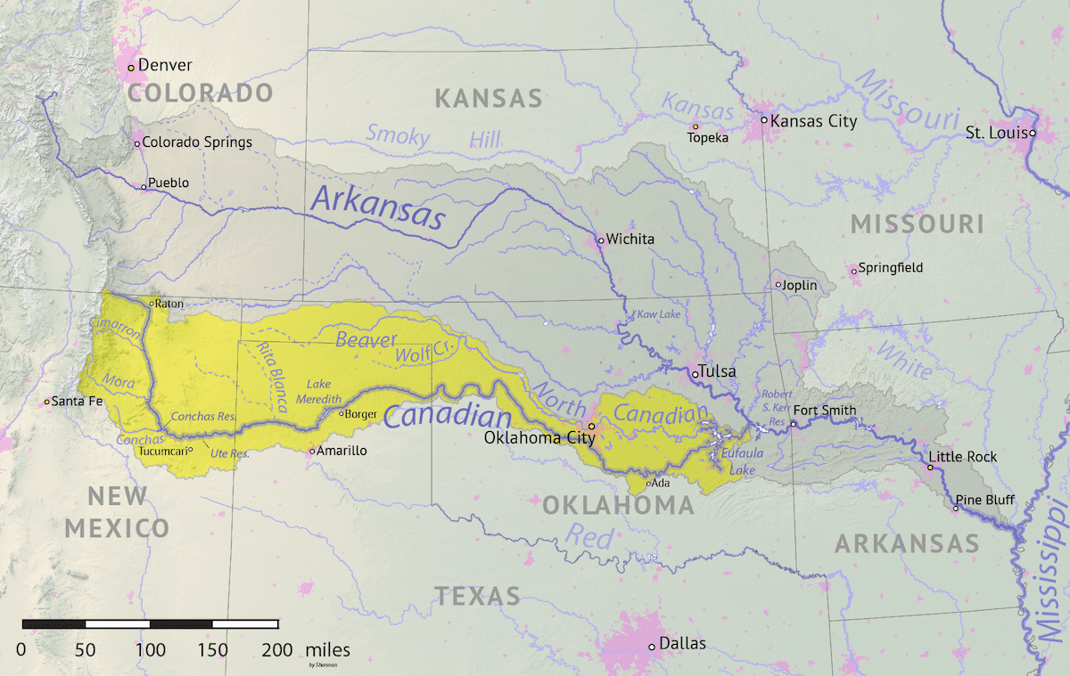 Image of the Canadian River Basin Map