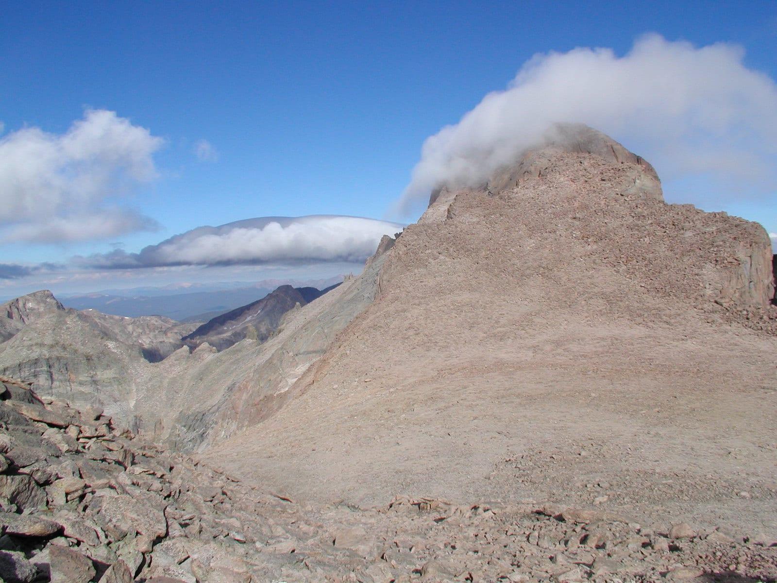 Clouds at Longs Peak, CO