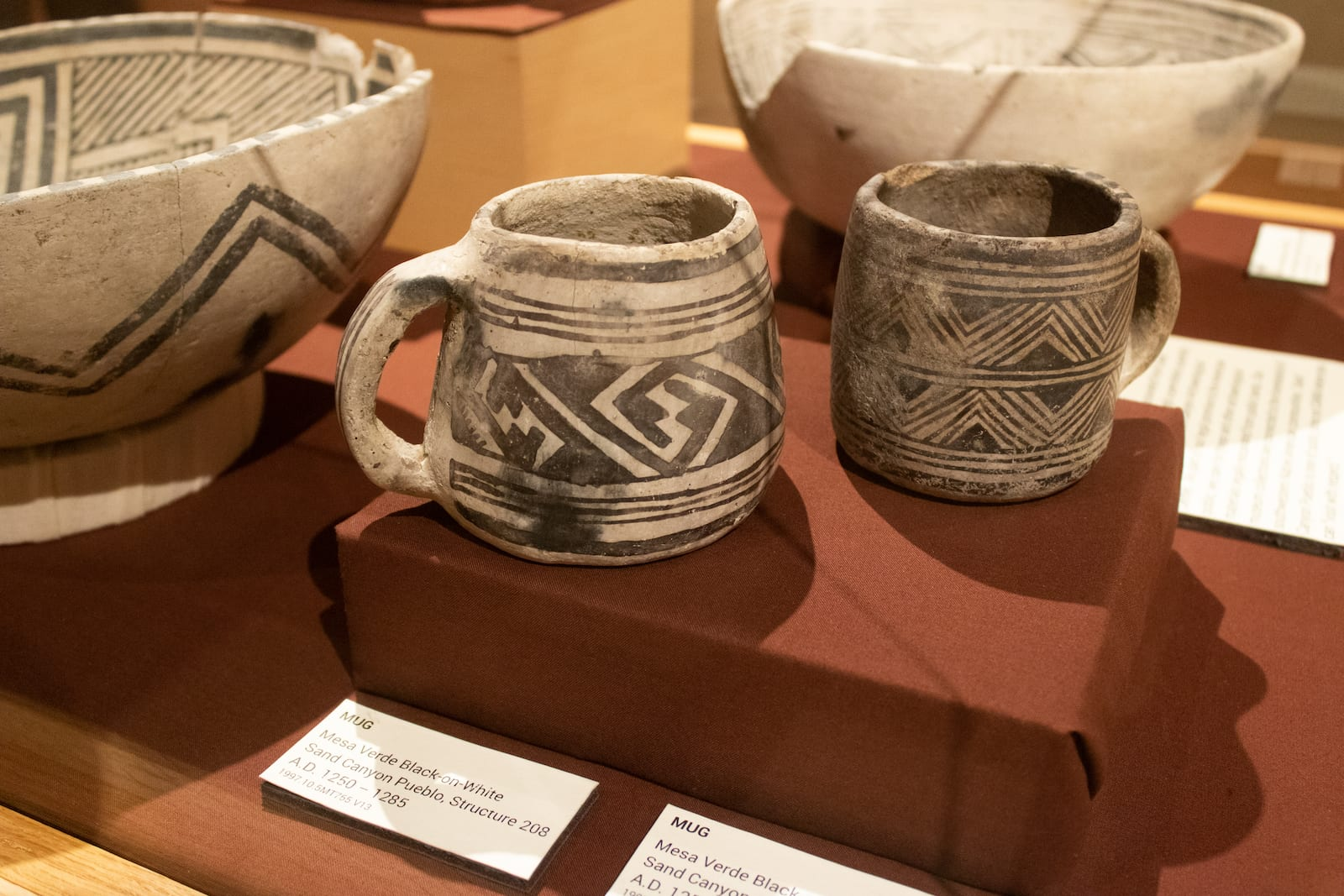 Exhibit at Canyons of the Ancients Visitor Center and Museum