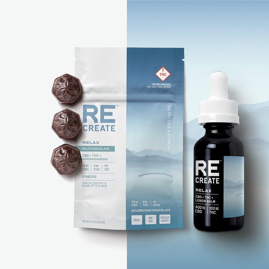 Image of the ReCreate Cannabis chocolates and oil