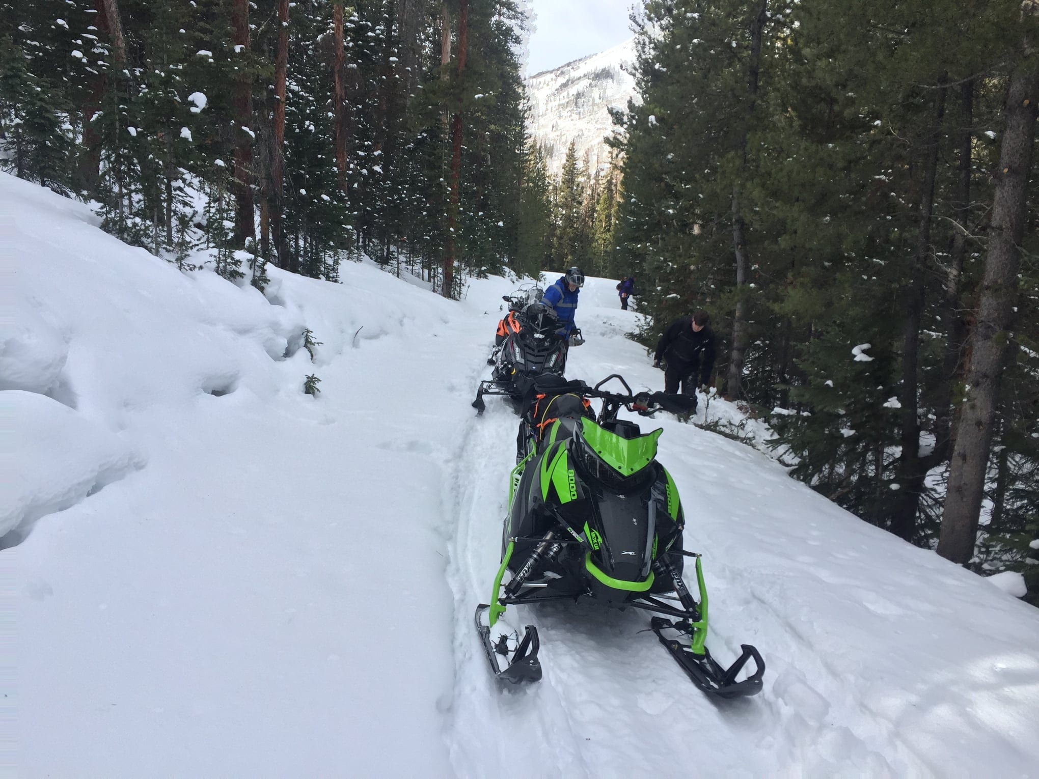 image of snowmobiling