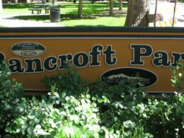 Image of the sign for the Bancroft Park in Colorado Springs, Colorado