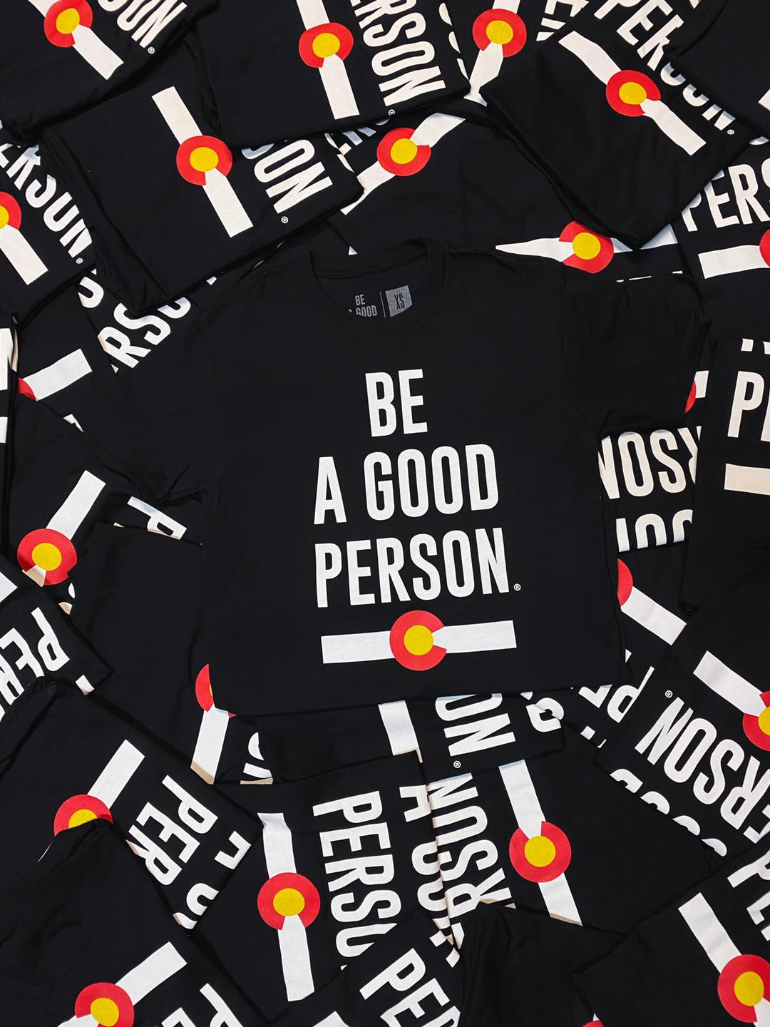 Image of Be A Good Person's black Colorado shirt