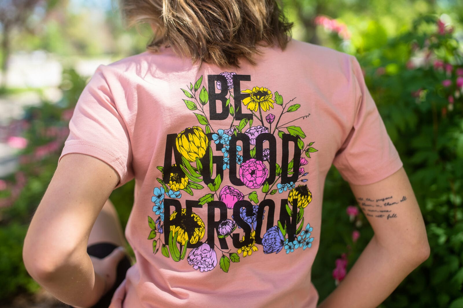 "Image of the flower ""Be A Good Person"" shirt"