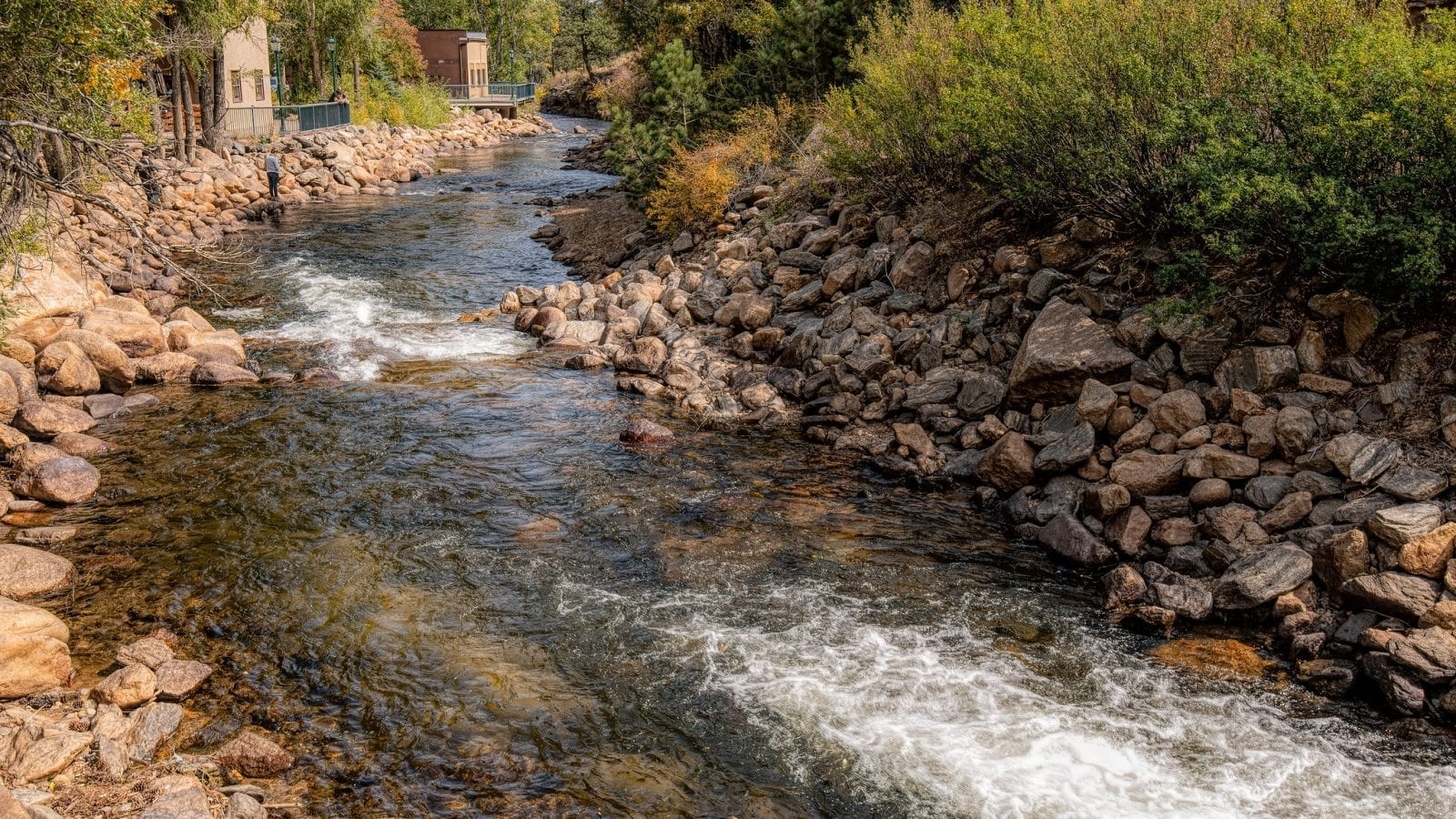 Image of the Big Thompson River flowing near downtown Estes Parks