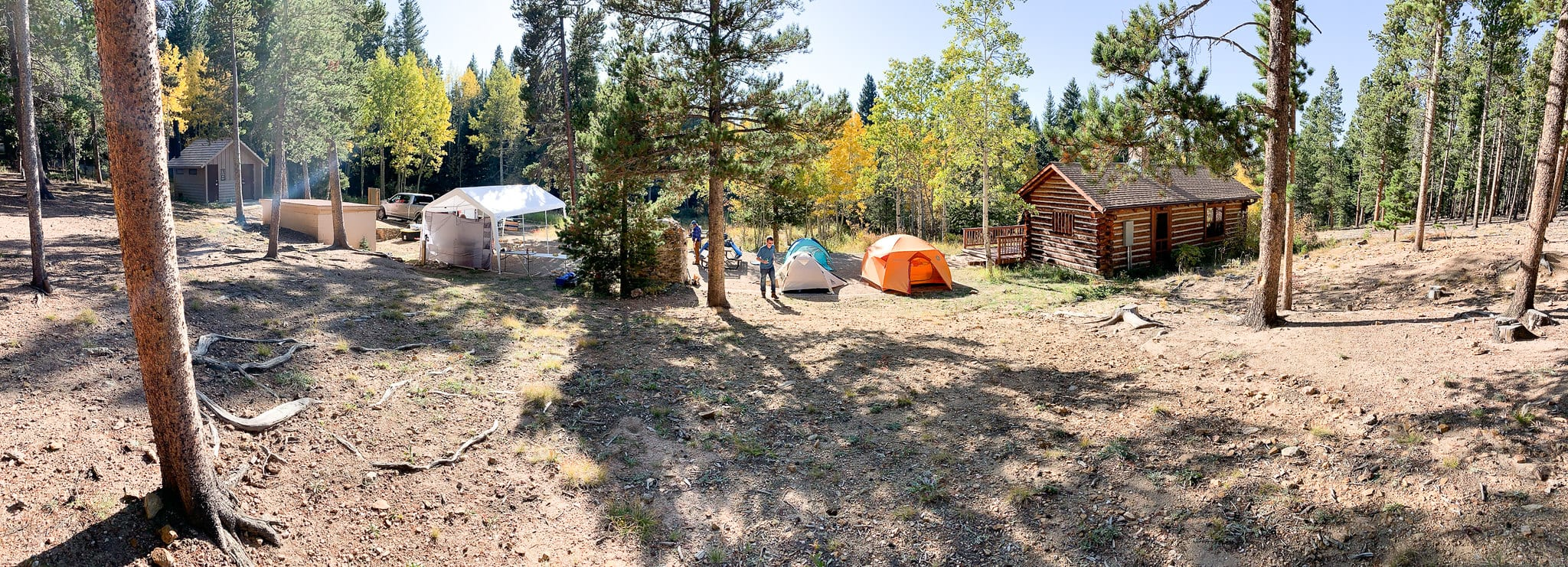 image of camping at golden gate canyon state park