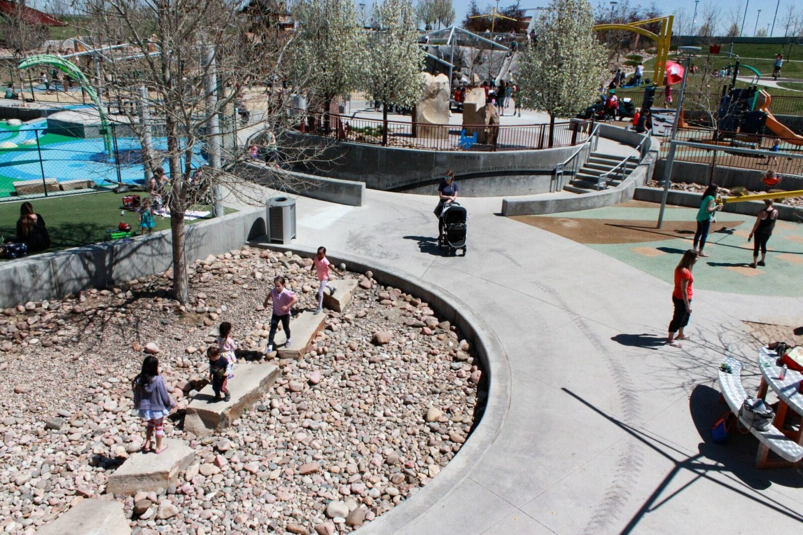 Image of the Centennial Center Park in Colorado with children playing