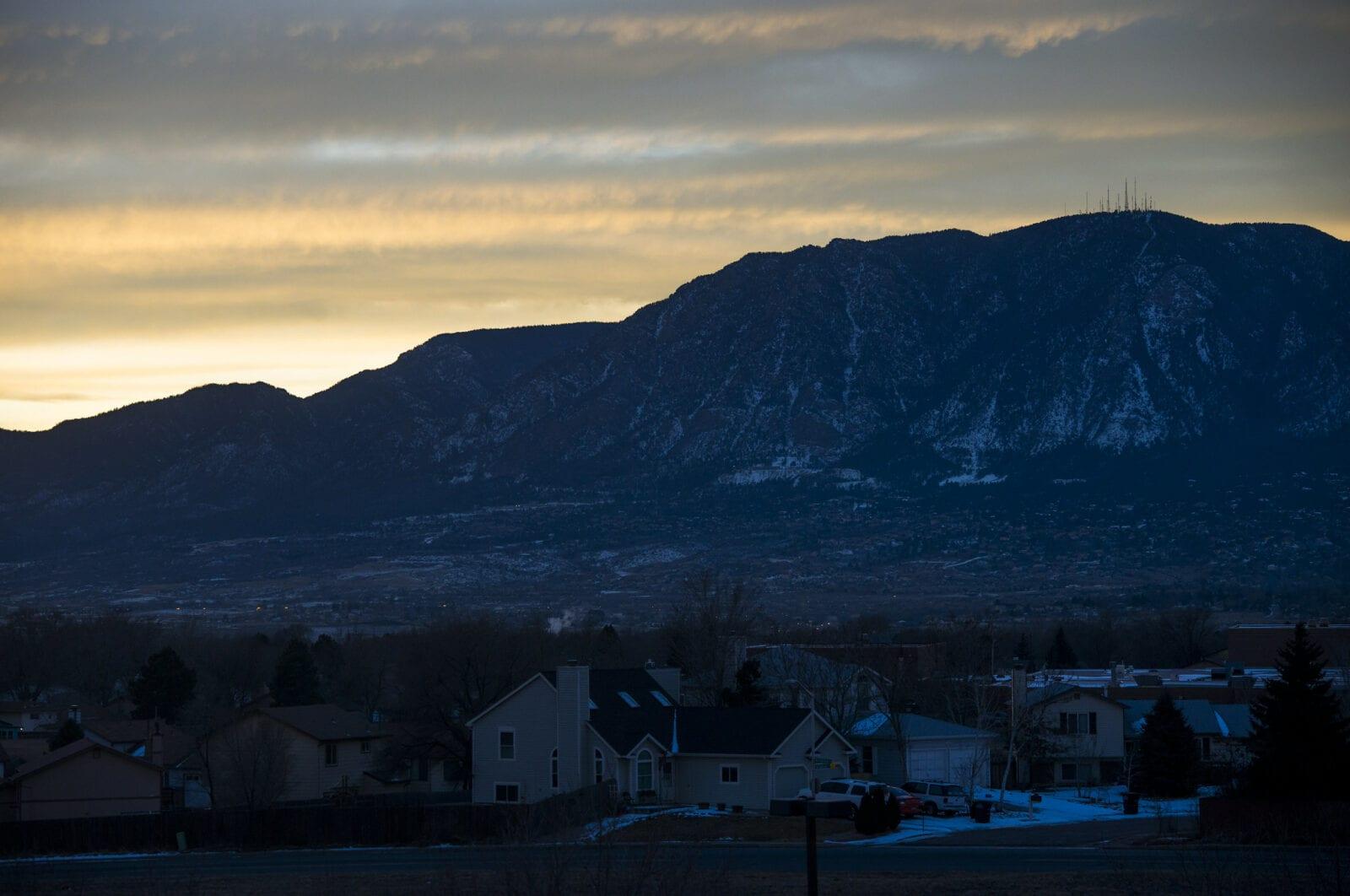 Image of the Cheyenne Mountain Complex mountain in Colorado Springs, Colorado
