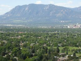 Image of the town of Colorado Springs in Colorado