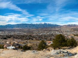 Image of Colorado Springs, Colorado panoramic city view