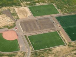 Image of the construction of the David A Lorenz Park in Highlands Ranch, Colorado