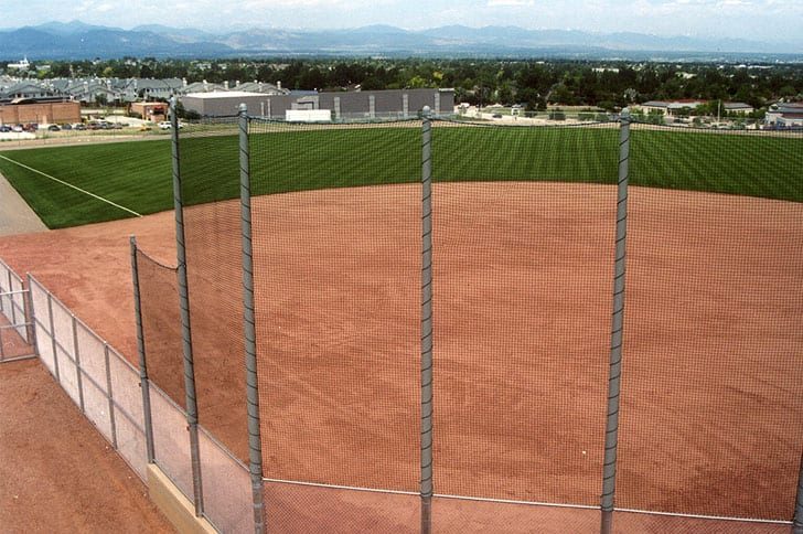Image of the baseball diamond at the David A Lorenz Regional Park in Highlands Ranch, Colorado