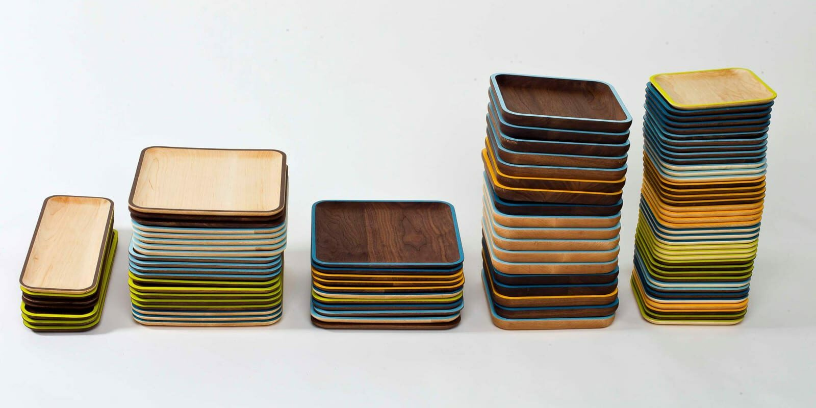 Image of wooden plates made by David Rasmussen