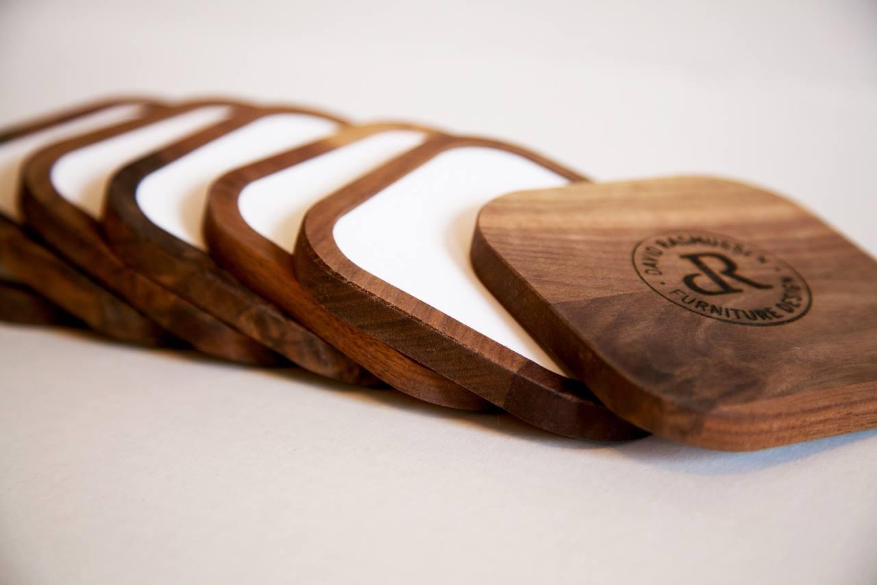 Image of David Rasmussen wooden coasters