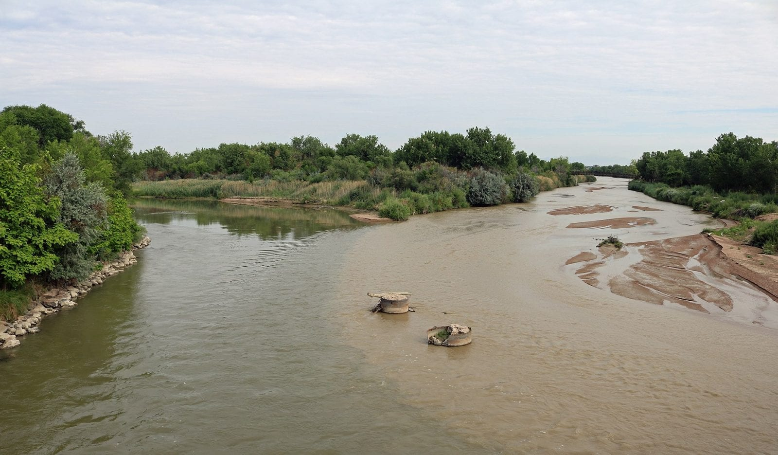 Image of the confluence of the Fountain Creek and Arkansas River