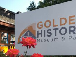 Image of the sign for the Golden History Museum & Park in Colorado